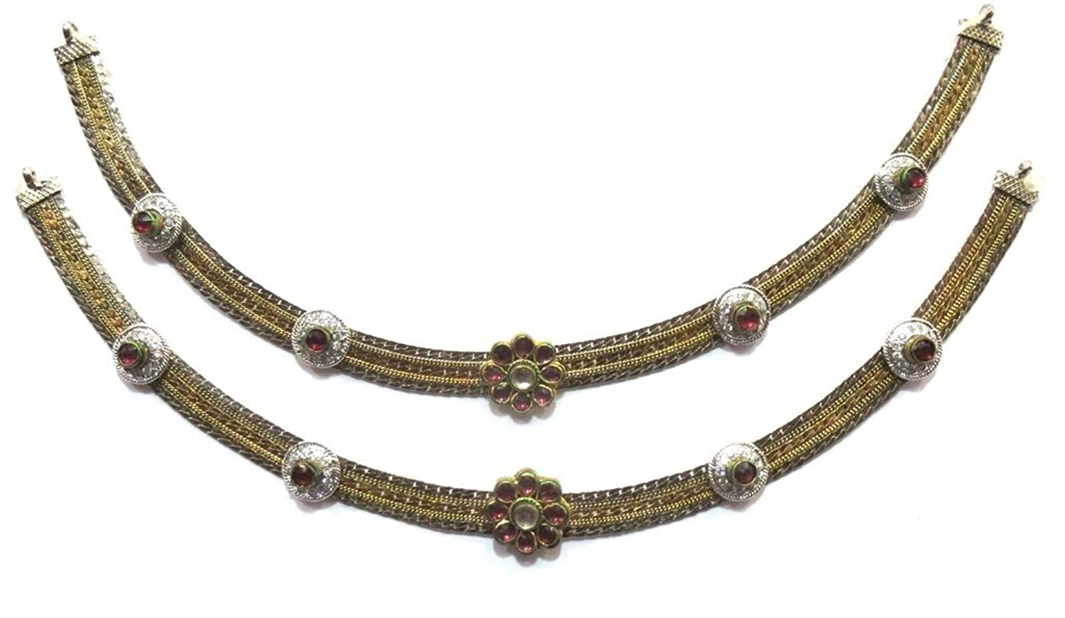 Shingar Jewelry Ksvk Jewels Antique Gold Plated Payal / Pajeb / Anklet For Women (9742-payal)