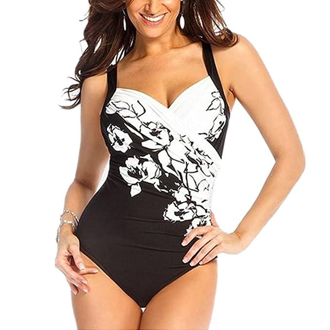 BOZEVON Mujer Retro Bikini Halter de Traje de Baño Swimsuit Swimwear PRdn2ghte6