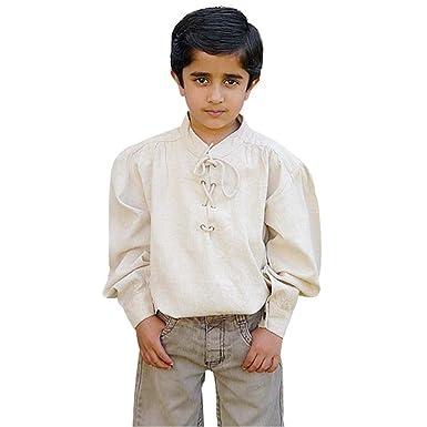 Camisa medieval infantil - traje de criado, caballero o rey - niño ...