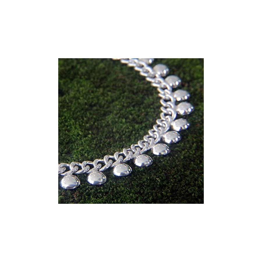 """NOVICA .925 Sterling Silver Handmade Chain Charm Anklet 'Palace Charms', 10.5"""""""
