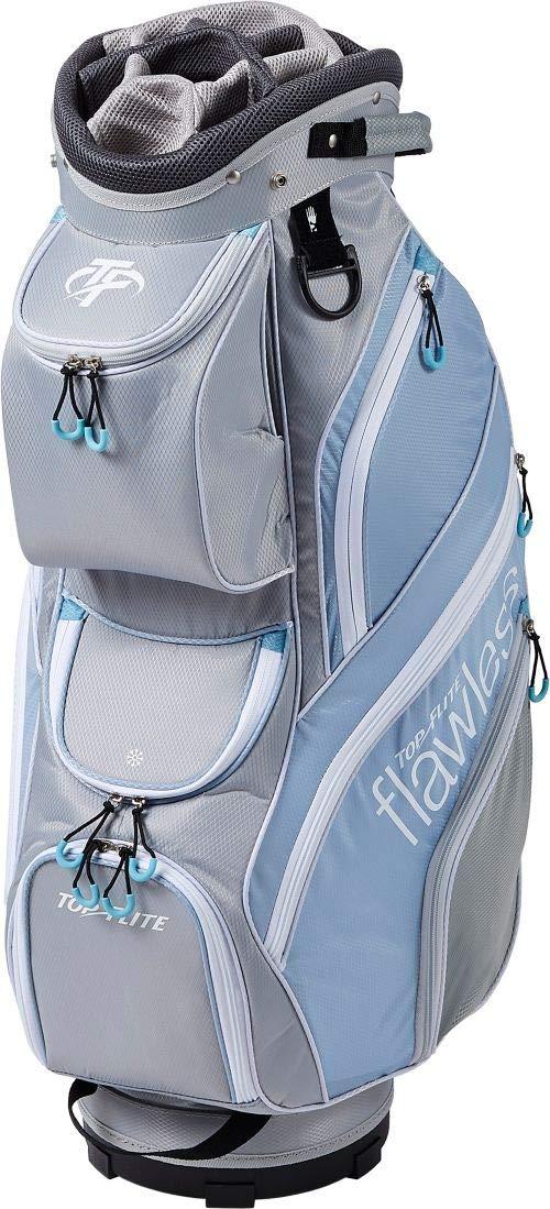 Top Flite レディース ゴルフカートバッグ グレー/ブルー