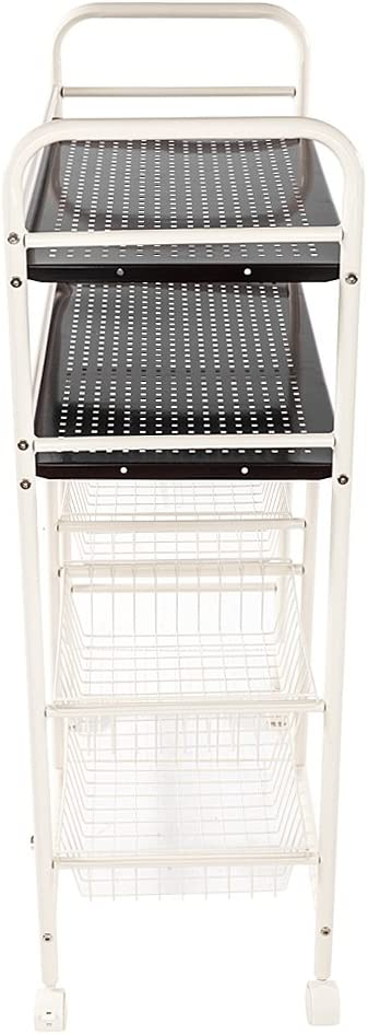 Microwave Oven Stand Metal Framewith 4 Wheel Casters EBLSE Kitchen Baker/'s Rack 4-Tier Utility Storage Shelf Wire Rack Storage with Table for Spice,Goblet,Bowl,etc
