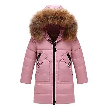 sale retailer 09c29 3b2f3 URSING Kinder Baby Lang Daunenjacke mit Pelz Winter Warme ...