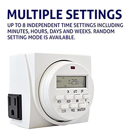 Comforday 7 day programmable digital timer use indoor and outdoor comforday 7 day programmable digital timer use indoor and outdoor with dual outlets sciox Images