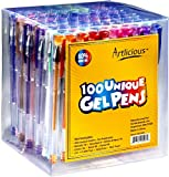 Artlicious - ULTIMATE 100 Unique Gel Pens Set - Non Toxic & Acid Free - Ideal for Coloring Books