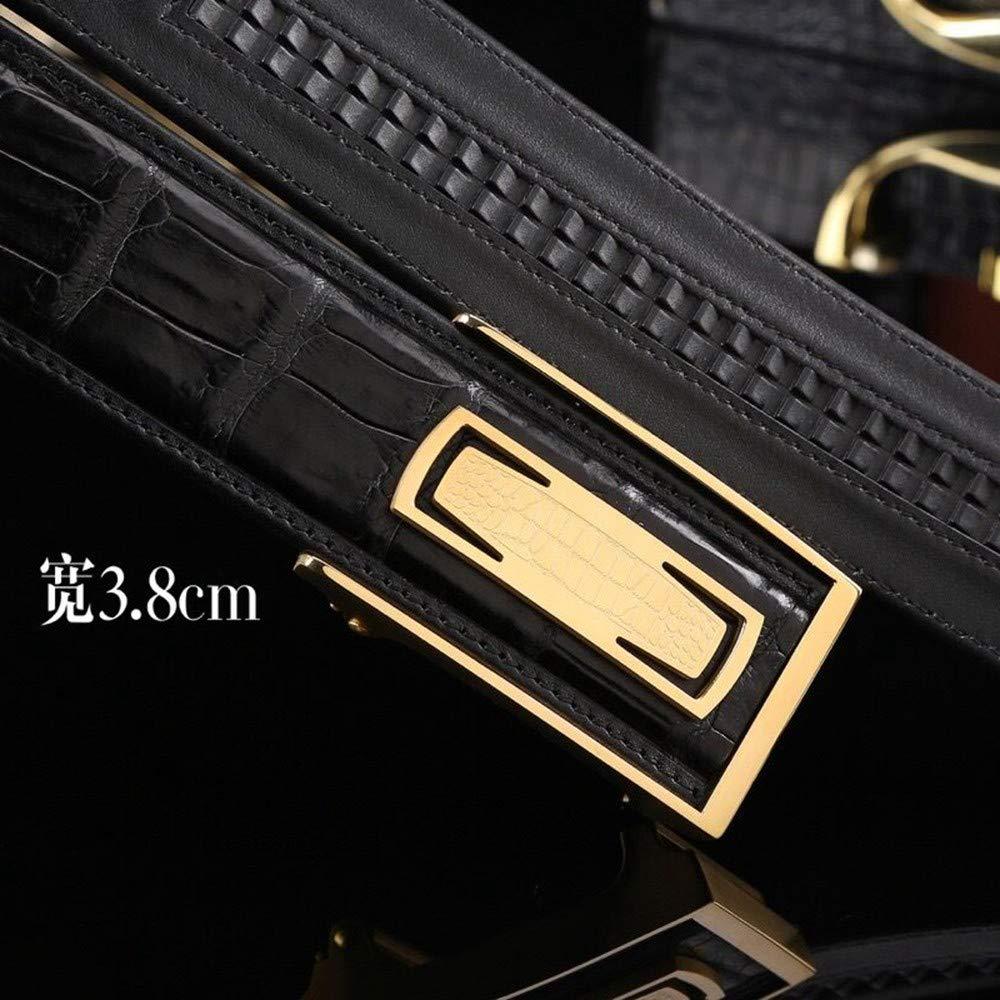 HYLIUP Mens Belt High-End Classic Design Business Belt Simple Fashion Automatic Buckle Belt Leather Belt Male