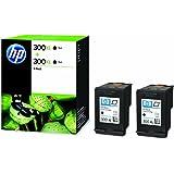 HP 300XL High Yield (600 Pages) Black Original Ink Cartridge (1 x Pack of 2 Ink Cartridges)