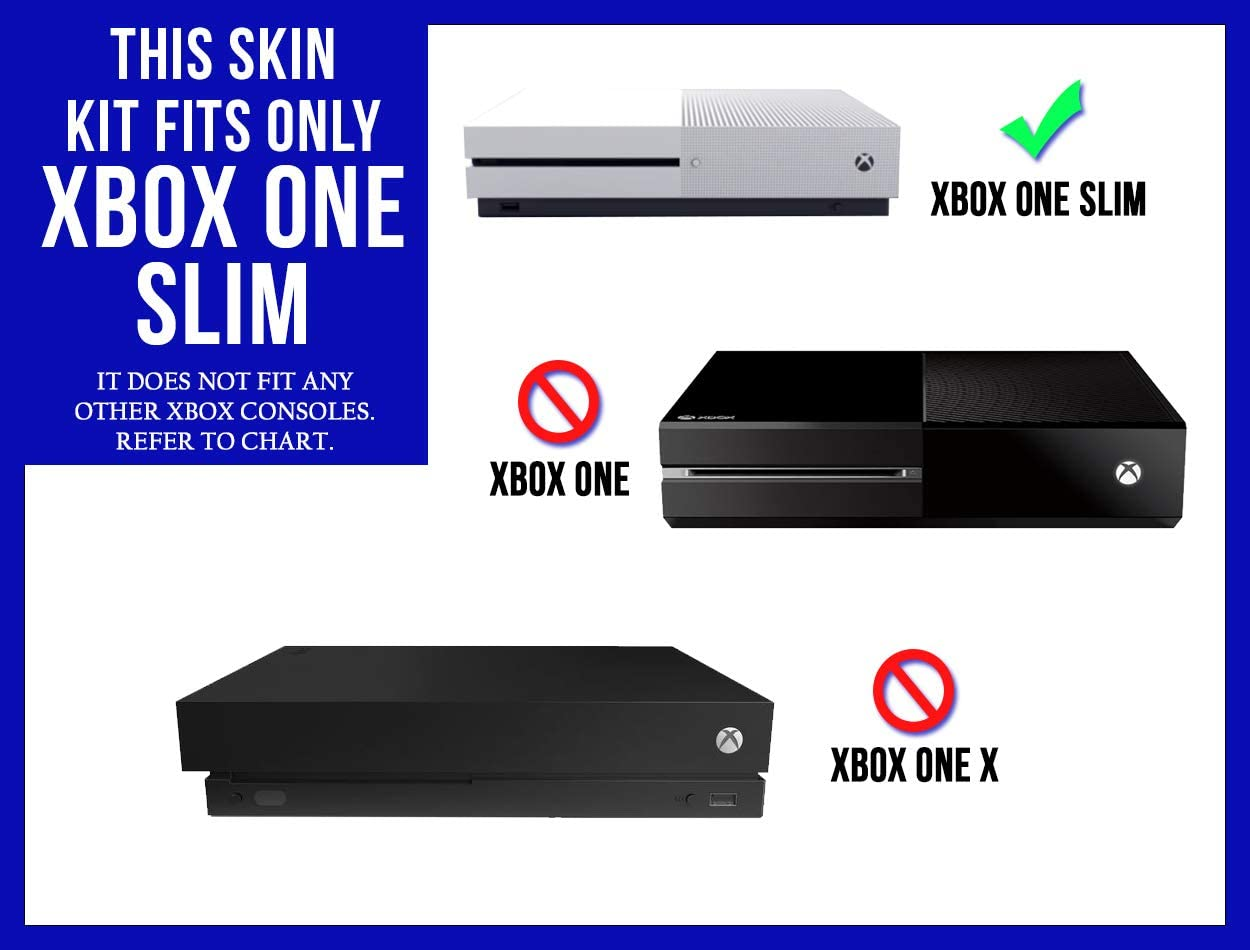 Console by System Skins XB1S Purple Chrome Mirror Vinyl Decal Mod Kit for MicroSoft Xbox One Slim