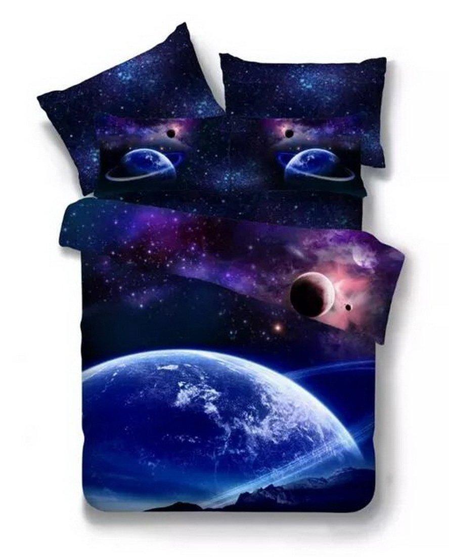 3D Bedruckte Steppdecke Bettbezug Kissenbezüge Spannbetttuch Geheimnisvolle Geheimnisvolle Geheimnisvolle Boundless Galaxy rot Sky Starry Night Betten Sets, Style 11, 3PCS 160-210cm B0787VC6G9 Bettbezüge 651ce8