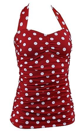Aloha-Beachwear Rockabilly Vintage Look Neckholder Damen Badeanzug mit  Polka Dots gepunktet Punkte A3039  Amazon.de  Bekleidung 66e896ae2b