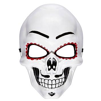 Careta La Catrina Máscara esqueleto Sugar Skull Accesorio fiesta mexicana Día de los muertos Cubre rostro