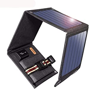 14W Solar Charger 5V USB Output Devices Portable Solar Panels for Smartphones, Android iPhone Laptop