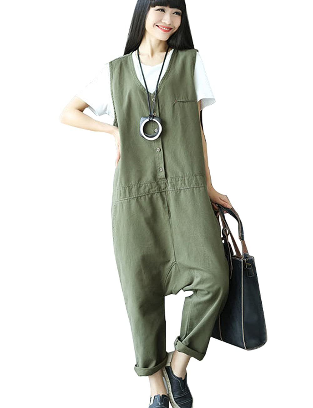 Zoulee Womens Sleeveless Wide Leg Jumpsuits Playsuits