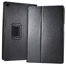 GreatShield TOME Series Leather Case with Multi Angle Stand for Sony Xperia Tablet Z / Sony SGP311 / Sony SGP312 (Black)