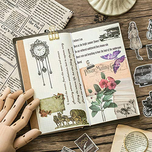 eroute66 Vintage Light Clock Furniture Plant DIY Scrapbooking Album Diary Stickers 2Pcs 1# by eroute66 (Image #7)