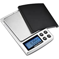 500g x 0 01g Digital Pocket Scale with Back-Lit LCD Display Silver Silver