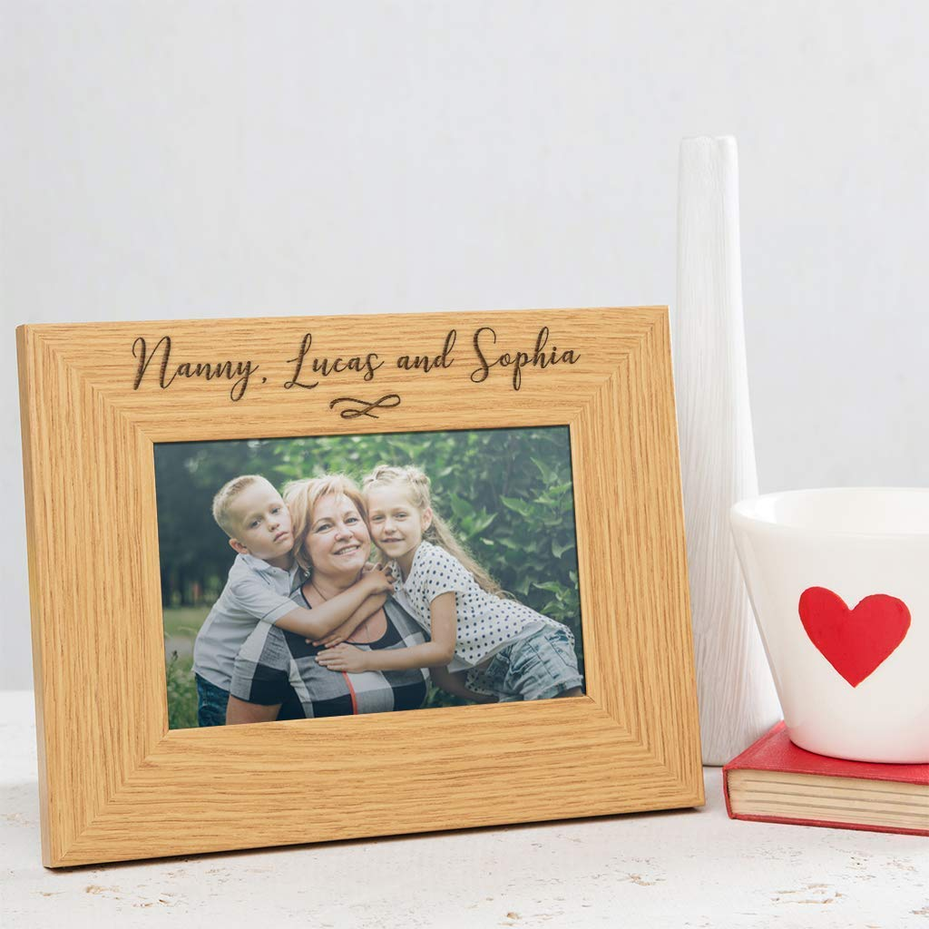 Holds 6/'/' x 4/'/' Photo Personalised Grandkids Photo Frame Engrave Any Message