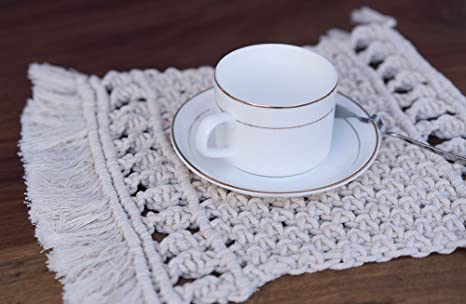 Handmade Macram\u00e9 Coaster