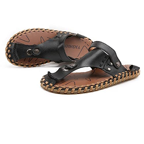 134ef0364912a0 Mens Shoes Genuine Leather Beach Flip Flops Slippers Non-Slip Soft Flat  Casual Backless Sandals