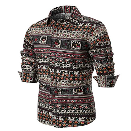 Ximandi Floral Printing Shirts, Autumn Shirt Long Sleeve Man Masculina Casual Shirt by Ximandi