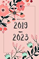 2019-2023 Monthly Planner: Agenda Planner For The
