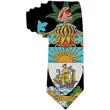 Símbolo de estado para hombre Escudo de armas de Bahamas Corbata ...