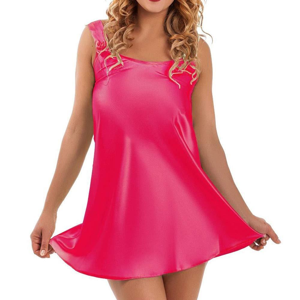 Sttech1 Ladies Sleeveless Lingerie Nightdress Women Sexy Lingerie Babydoll Sleepwear Underwear
