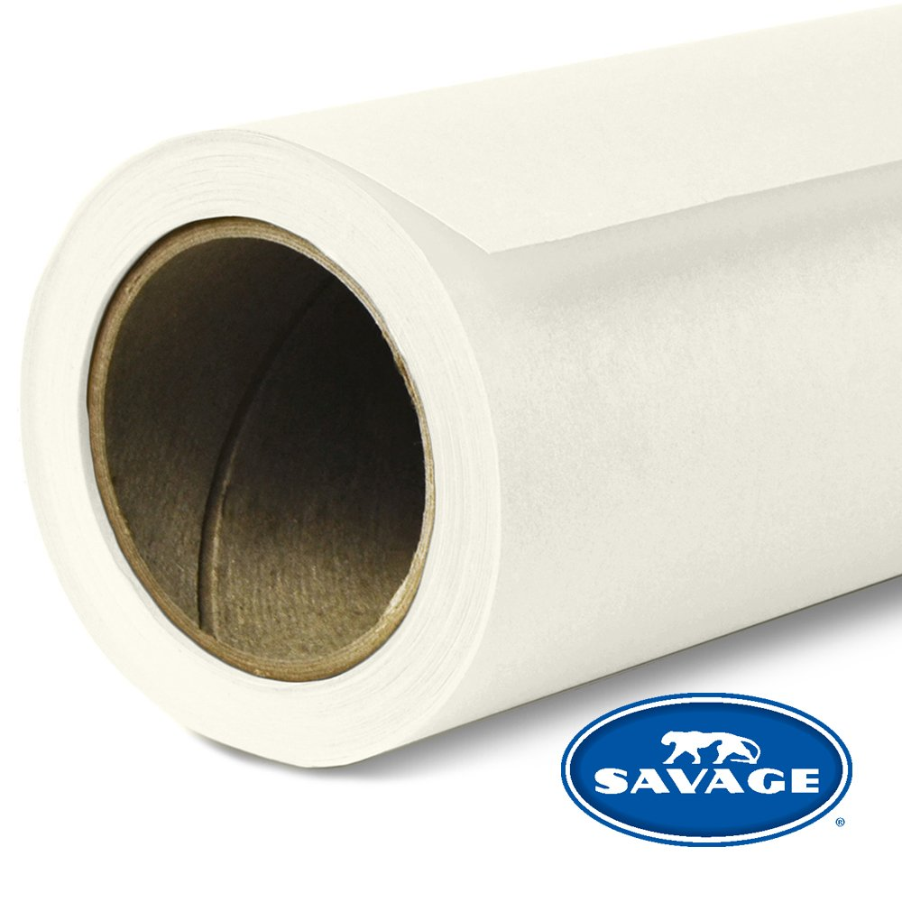 Savage Seamless Background Paper - #50 White (107 in x 36 ft) by Savage