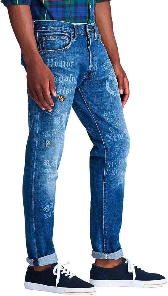 Vaqueros Ralph Lauren Sullivan Slim Azul Hombre 31 Azul: Amazon.es ...