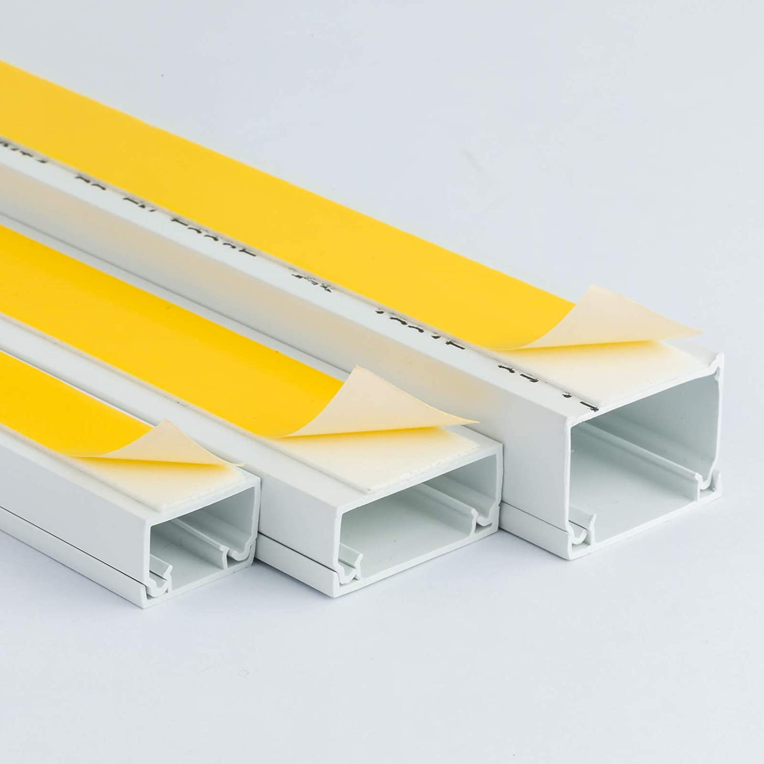 16x16 38x16 38x25mm 16x10 White Self Adhesive Pvc Trunking Cable Wire Tidy Plastic Electrical Conduit Mini Trunk 16x10mm 2x 1m Length 25x16 Wire4u Size Variations Including 10x8