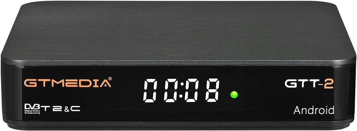 GT MEDIA GTT-2 Decodificador TDT Android 6.0 TV Box 4K Digital Receptor Terrestre DVB-T/T2 Smart TV Box Amlogic S905D Quad-Core 2GB+8GB 3D H.265 ...