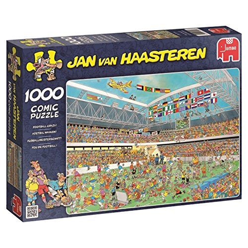 Jumbo Jan Van Haasteren Football Crazy Jigsaw Puzzle (1000 Piece) ()