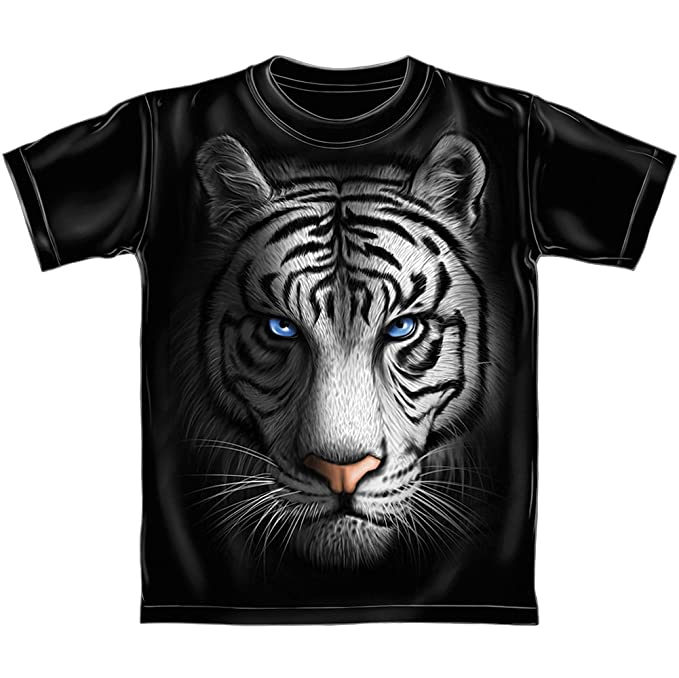 54df4658 Amazon.com: Dawhud Direct White Tiger Youth Tee Shirt: Clothing