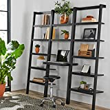 Mainstays Sumpter Park Ladder Bookcase Home and Office Desk (Solid Black) Review
