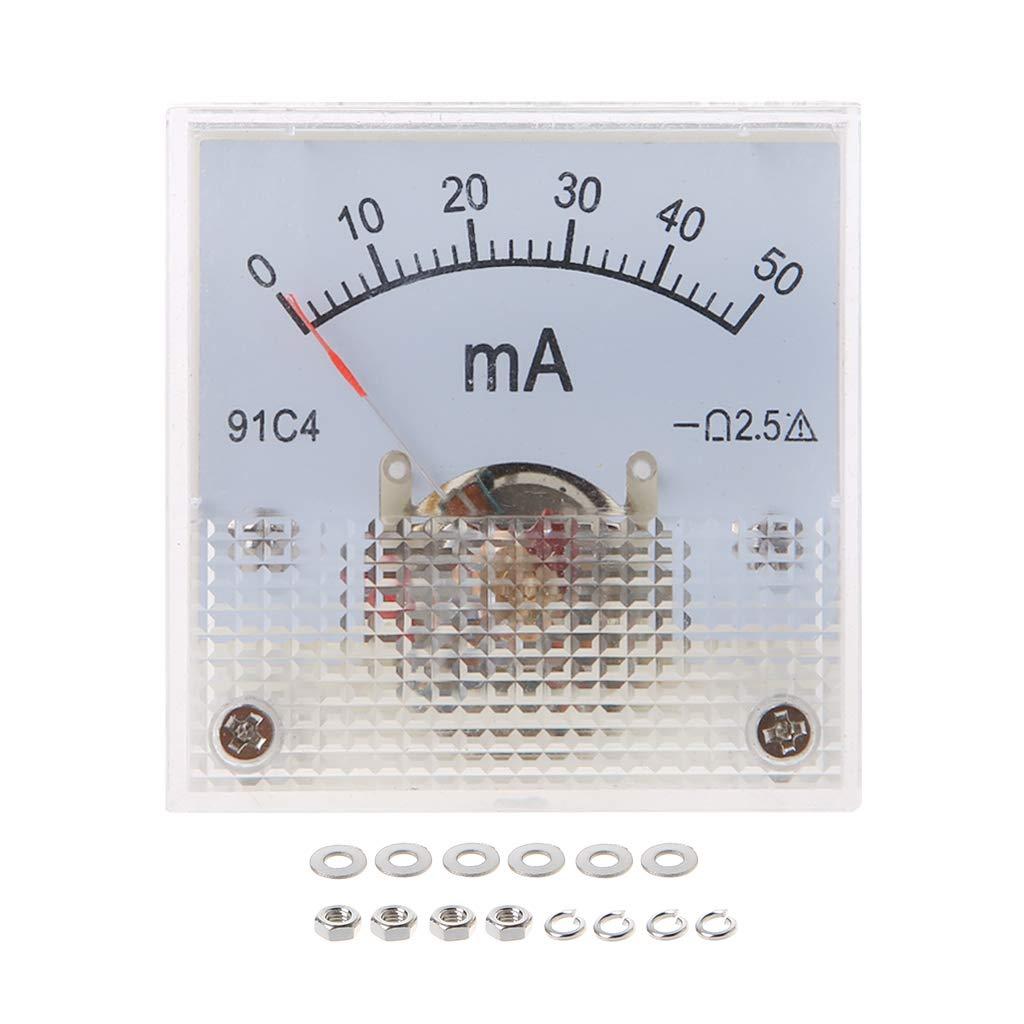 VAILANG 91C4 Amper/ímetro DC Medidor de Corriente anal/ógico Panel Tipo de Puntero mec/ánico 1//2//3//5//5//10//20//30//50//100//200//300 500mA A Amper/ímetros mec/ánicos 10A
