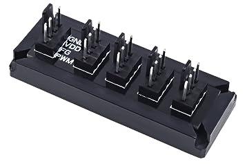 Phobya 1011223 Divisor de señal para Cable coaxial Negro Cable Divisor y combinador - Splitter/