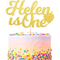 Personalised Any Age First Birthday Cake Topper. Personalised Baby Birthday Cake Topper. 1st Birthday Cake Decoration for Baby Boy & Girl. Any Name and Age Customized. Multicolours Glitter Colour 400 Gram Double Sided Glitter Card Party Decoration.