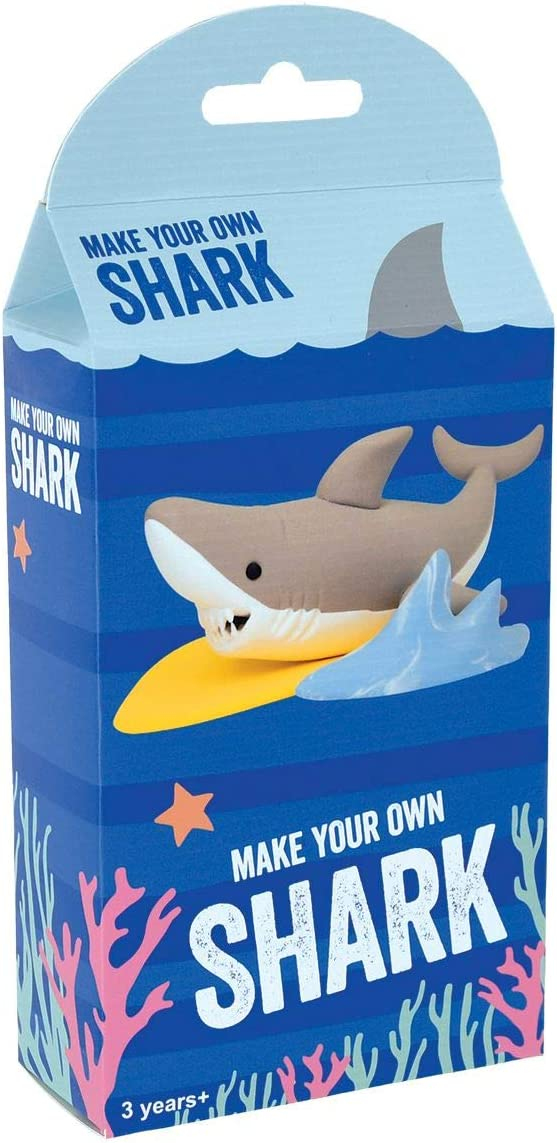 iscream Fizz Creations Make Your Own Mini Surfing Shark Modeling Dough Shaping Kit