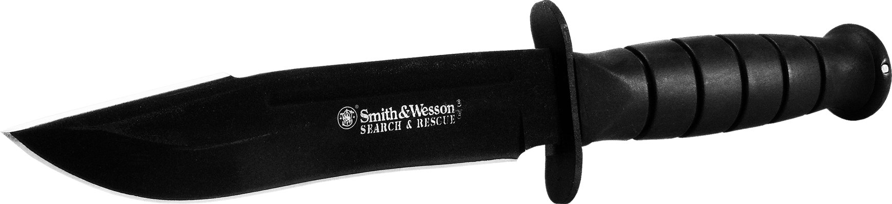 Smith & Wesson Search & Rescue CKSUR1 Clip Point Fixed Blade Knife Rubberized Aluminum Handle by Smith & Wesson (Image #2)