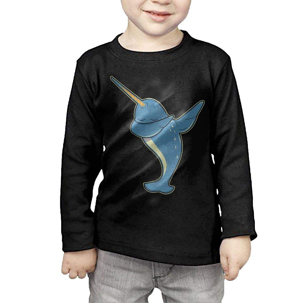 Fryhyu8 Baby Boys Childrens Dabbing Narwhal Printed Long Sleeve 100/% Cotton Infants T Shirts
