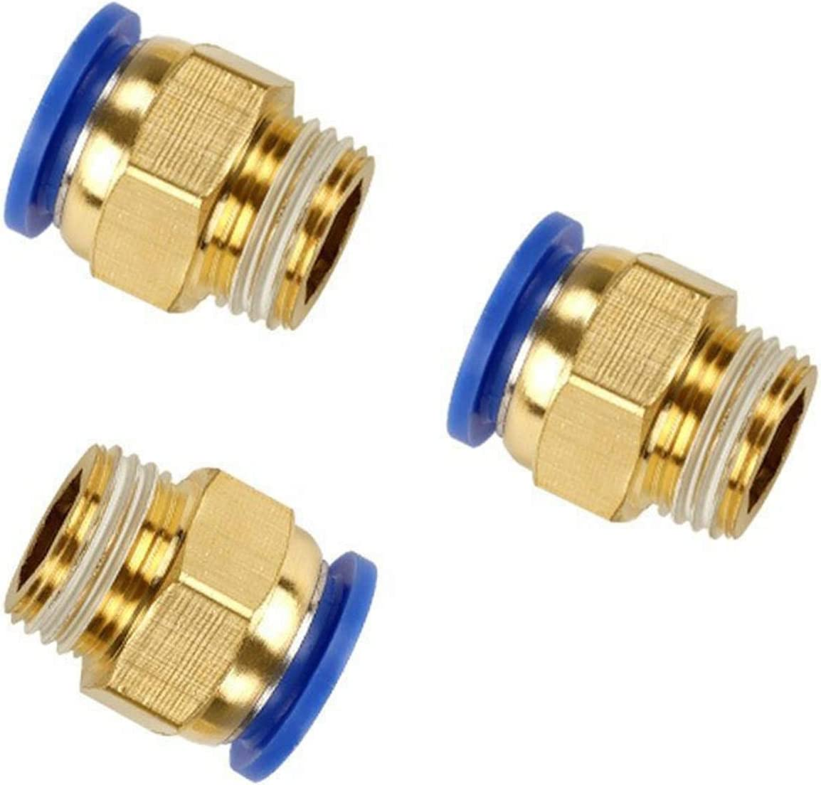 Self-drive tool 10Pcs Air Pneumatic 4mm 6mm 8mm 10mm Hose Tube 1//4 1//2 1//8 3//8 BSP Male Thread Air Pipe Connector Quick Coupling Brass Fitting Color : 16mm Tube, Specification : 1//4