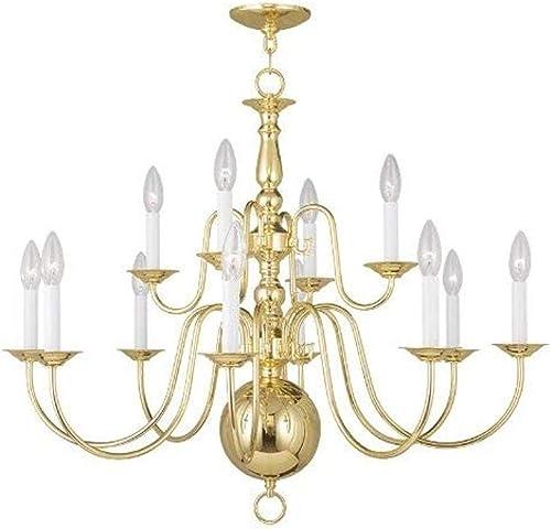 Livex Lighting 5014-02 Williamsburg 12-Light Chandelier