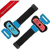 Qianwei Armband Joy Con Grip compatibile per Nintendo Switch Just Dance 2019/Mario Tennis Ace/Fitness Boxing (2 pezzi)