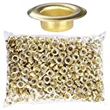 Yescom 1000pcs #2 0.39'' Semi-automatic Button Machine Grommets 10mm Brass Finish Eyelets for Posters Tags Signs Bags