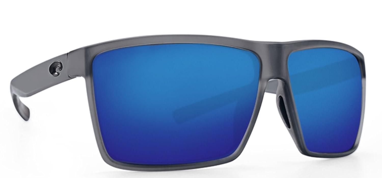 fe3c0c2326 Amazon.com  Costa del Mar Rincon Mt Smoke Crystal Blue Mirror 580P Glasses  with Cloth  Clothing