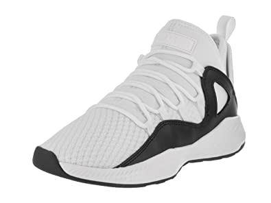 Jordan Nike Kids Formula 23 Bg White/White/Black Basketball Shoe 4 Kids US