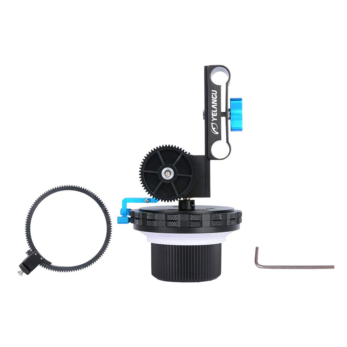 Fiil Yelangu Quick Release Design F3 A/B Stop Follow Focus with Gear Ring Belt (Camera NOT Included) by YELANGU