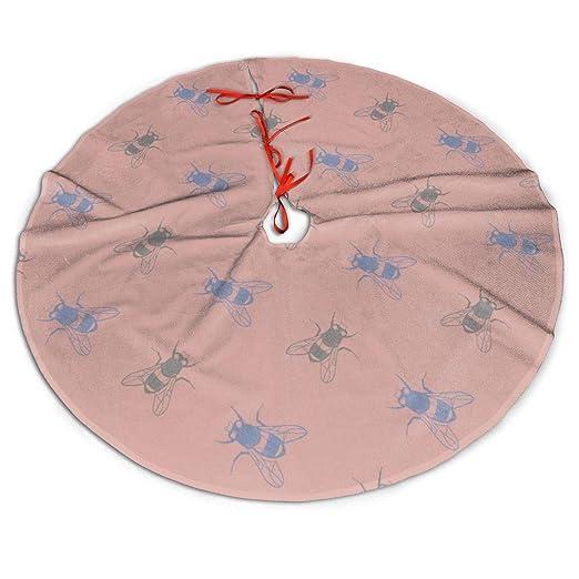 Falda de árbol de Navidad con diseño de Mariposas Rosas y Azules ...