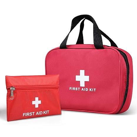 KWANITHINK Botiquín de Primeros Auxilios, 2 Piezas Kit de Supervivencia Portátil Viaje Vacía , Bolsa Médica para Emergencias para Casa u Aire Libre