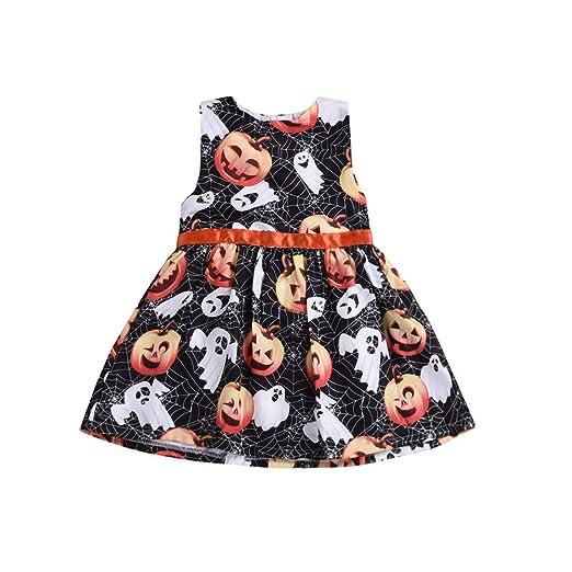 7daea6b91 Amazon.com  Lurryly❤Halloween Baby Girl Cartoon Pumpkin Princess ...